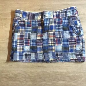American Eagle patch work mini skirt. Size 2.